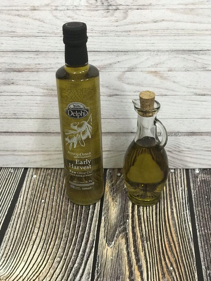 Delphi оливковое масло нефильтрованное сырое, ранний урожай 0.3 кислотность 500 мл