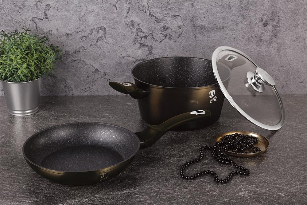 BH-6616 Shiny Black Edition Набор посуды 5пр
