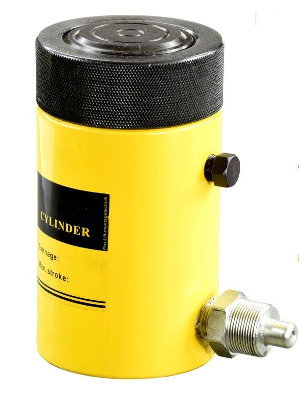 Домкрат гидравлический TOR HHYG-100150LS (ДГ100П150Г),  100т с фиксирующей гайкой