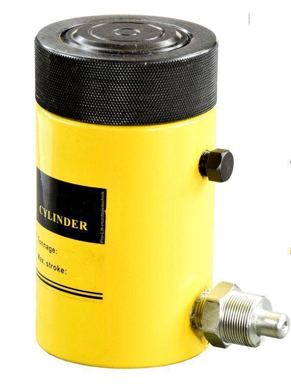 Домкрат гидравлический TOR HHYG-200100LS (ДГ200П100Г),  200т с фиксирующей гайкой