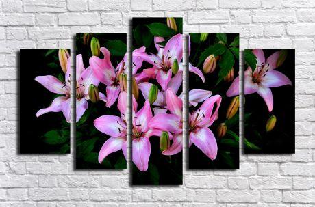 Модульная картина Цветущие лилии
