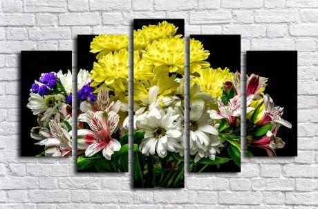 Модульная картина Букет ярких цветов