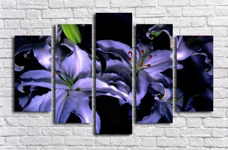 Модульная картина Синие орхидеи
