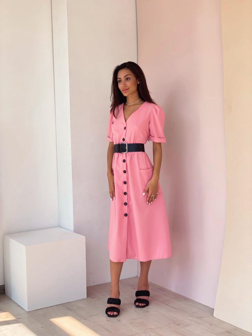4364 Ретро-платье в цвете candy pink