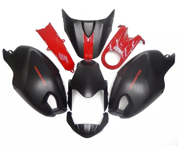 DUCATI 696/795/796/M1000/M1100 2009-2011 Комплект пластика