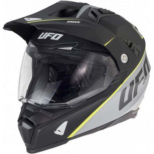 UFO Aries Helmet Matt Black/Grey шлем универсальный, черно-серый