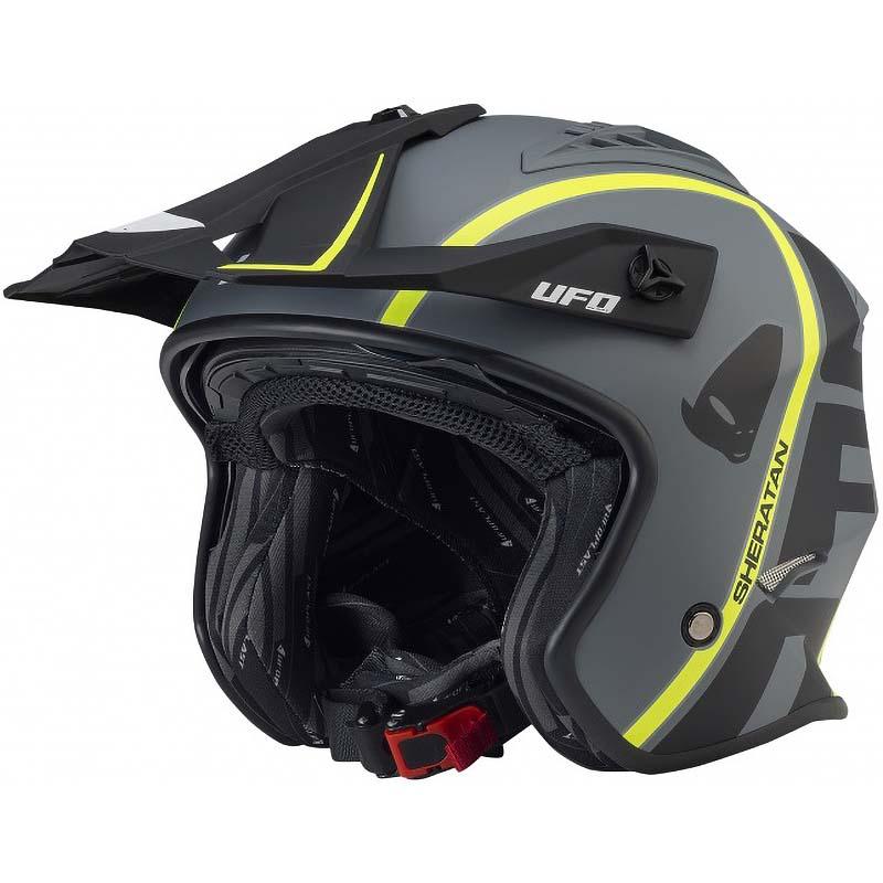 UFO Jet Sheratan Matt Black Helmet  шлем открытый, матово-черный
