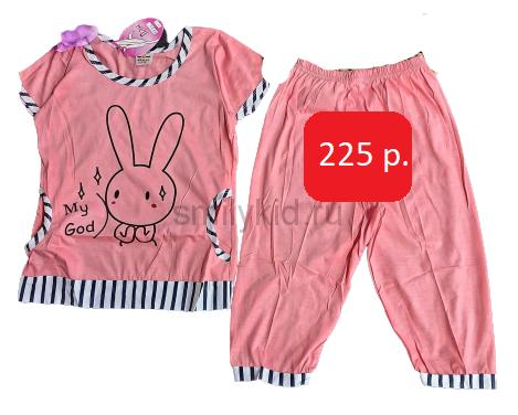 "Пижама для девочки ""my god"" оптом | 5 шт"