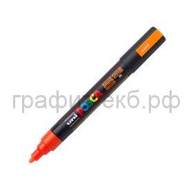 Маркер декоративный UNI POSKA 1,8-2,5мм флуоресцентно-оранжевый цветF4 PC-5M