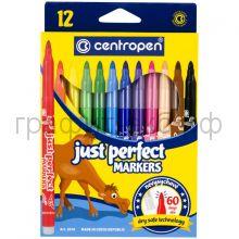 Фломастеры 12цв.Centropen Just Perfect смываемые невысыхаемые 7 2510 1201/1285