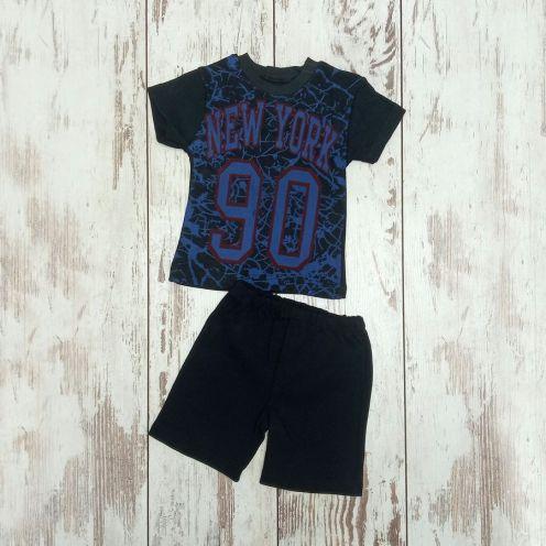 Костюм NY 90 черный: футболка, шорты