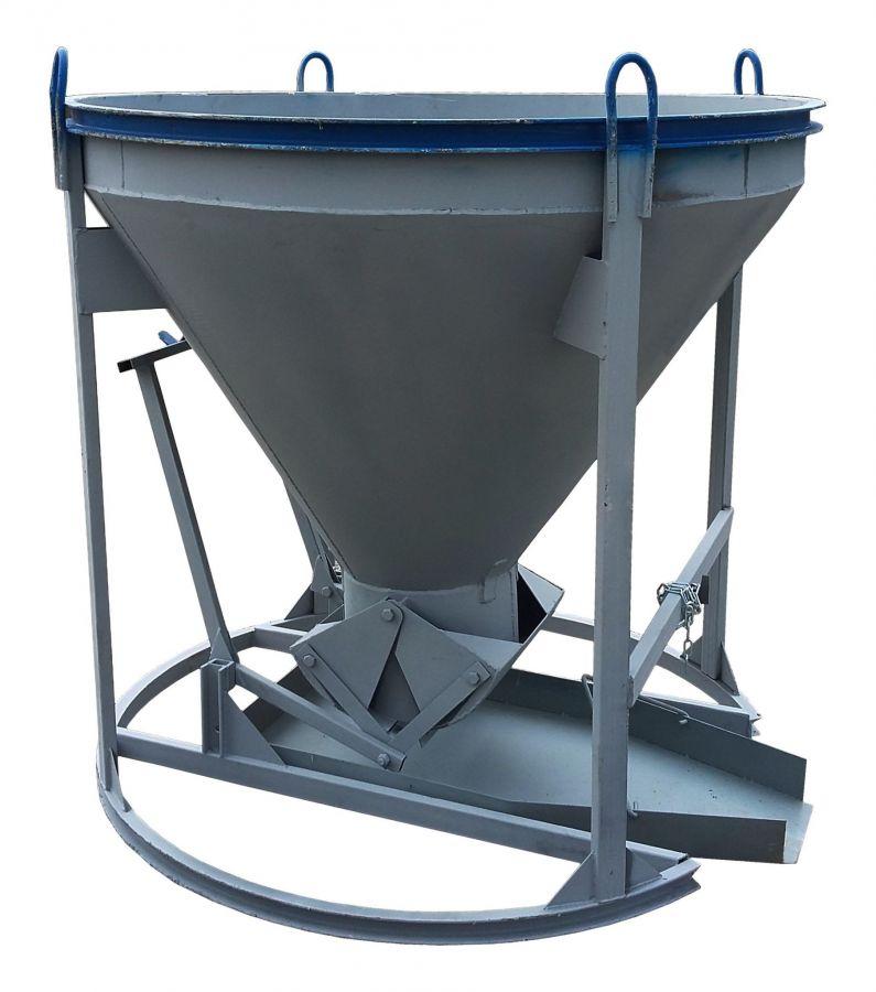 Бадья для бетона «Рюмка» 2,0 (БН-2,0) Pro, с лотком  600х1500 мм