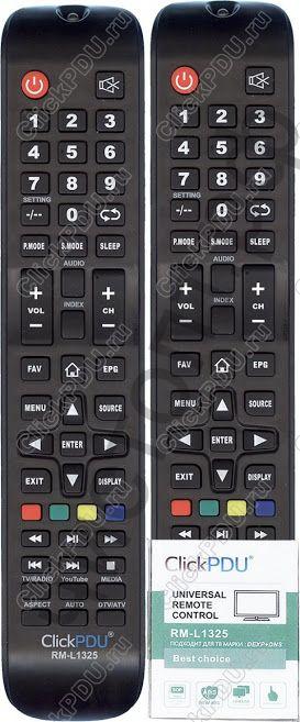 Пульт ClickPdu RM-L1325 для DEXP/DNS/DOFLER универсальный пульт для тв  (производство фабрики Huayu)