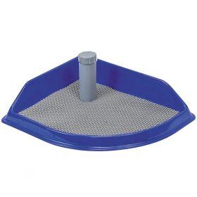 Дарэлл Рокки Туалет угловой для собак со столбиком и резиновым ковриком, 50*43см
