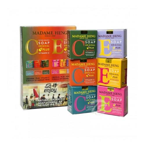 Набор из 6 сортов мыла Мадам Хенг с витаминами Е и С