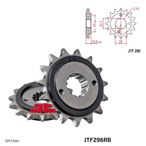 Звезда ведущая JTF296.15 Rubber