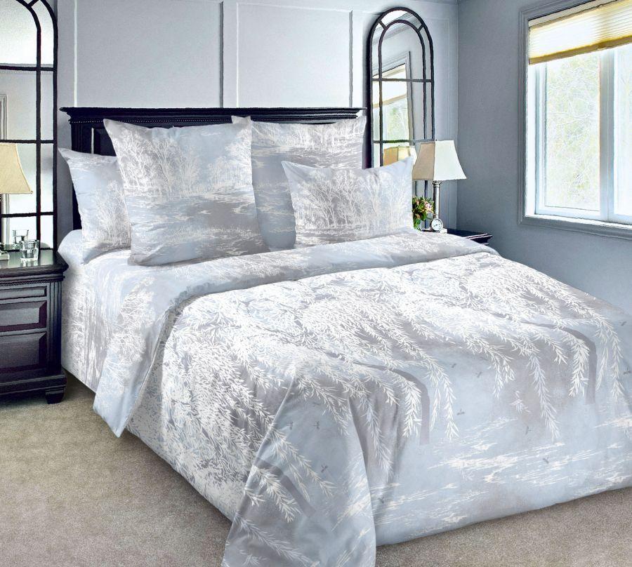 «Ивушка 1» постельное белье Перкаль 2-х спальный с евро
