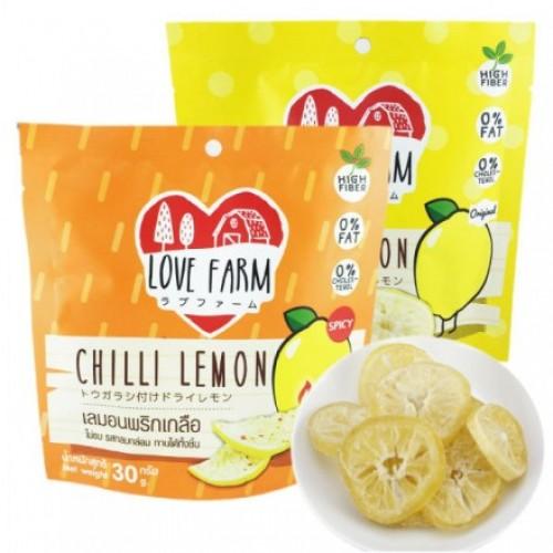 Лимонные дольки с чили Love Farm 30 гр