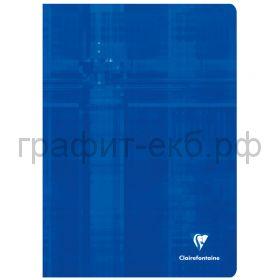 Тетрадь А4 48л.кл.Clairefontaine Mimesys глянцевая ламинация синяя 90г/м2 63162C_blue