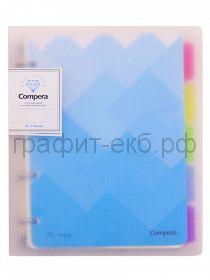 Тетрадь на кольцах А5 80л.кл.Comix COMPERA DIAMOND C71054