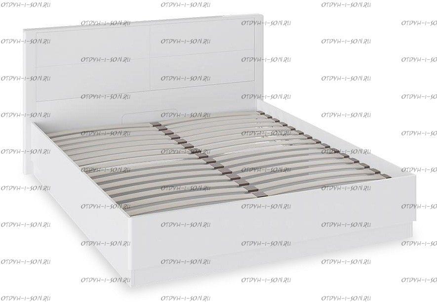 Кровать Наоми с подъемным механизмом СМ-208.01.02 Белый глянец