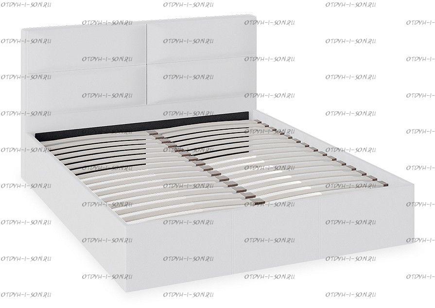 Кровать с мягкой обивкой Глосс ТД 319.01.01 тип 1 (1600) Белая