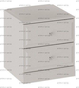 Тумба прикроватная Сабрина СМ-307.03.001 с опорой Кашемир