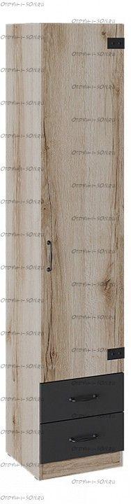 Шкаф для белья комбинированный Окланд ТД-324.07.21 Фон Черный/Дуб Делано