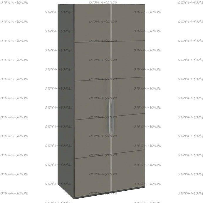 Шкаф для одежды Наоми СМ-208.07.03 с 2 дверями Фон серый, Джут