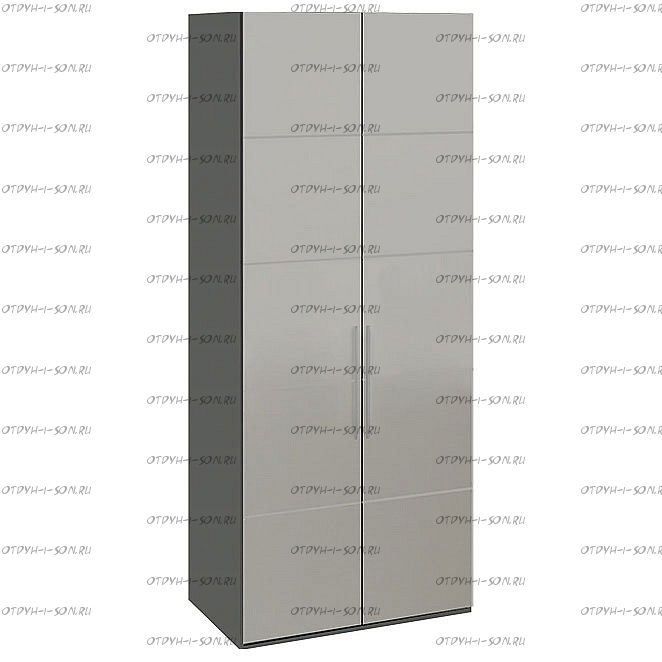 Шкаф для одежды Наоми СМ-208.07.05 с 2 зеркальными дверями Фон серый, Джут