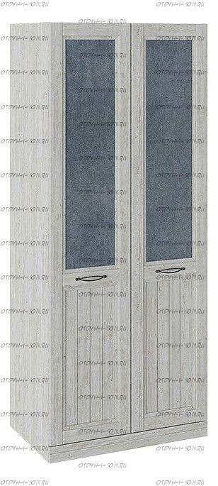 Шкаф для одежды с 2 глухими дверями Кантри СМ-308.07.020 (з) Замша синяя/Винтерберг
