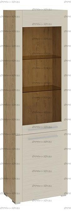 Шкаф для посуды с 2 дверями Николь ТД-296.07.25 Бунратти/Фон Бежевый