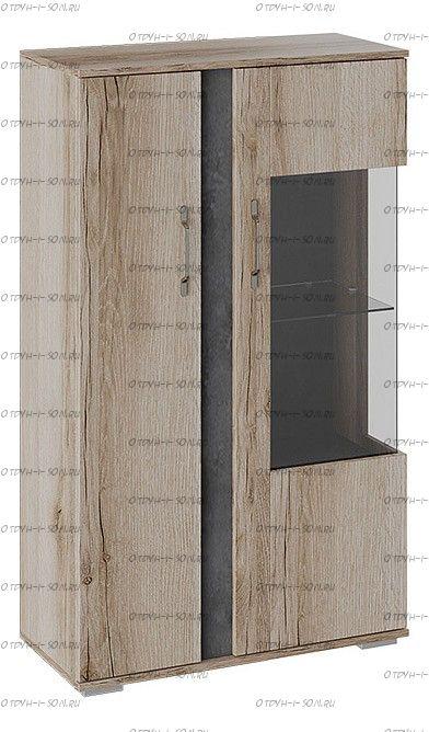 Шкаф комбинированный с двумя дверьми Брайтон ТД-329.07.27 Камень/Дуб Делано