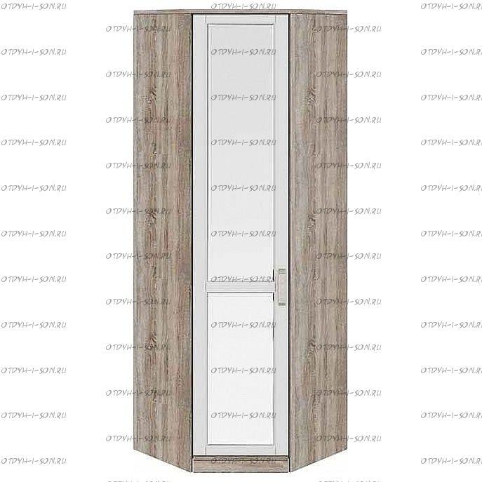 Шкаф угловой Прованс СМ-223.07.027L с 1 зеркальной дверью (440) Дуб Сонома трюфель/Крем