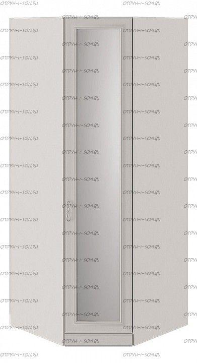 Шкаф угловой Сабрина СМ-307.07.031-01 с 1 зеркальной дверью с опорой Кашемир