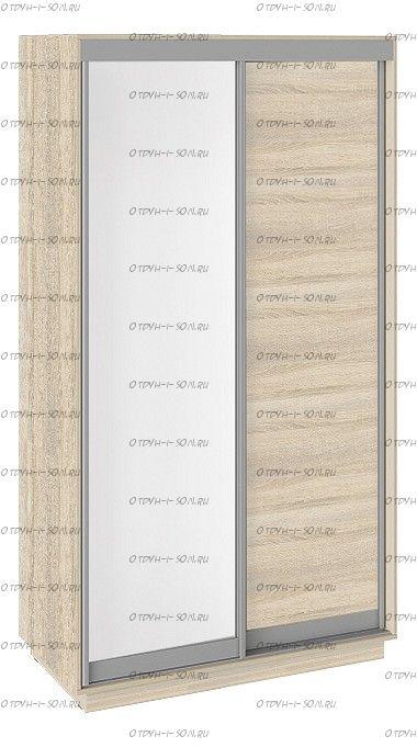 Шкаф-купе 2-х дверный Румер СШК 1.120.60-11.11 (1200x600x2200) Дуб Сонома, Белый снег/Дуб сонома