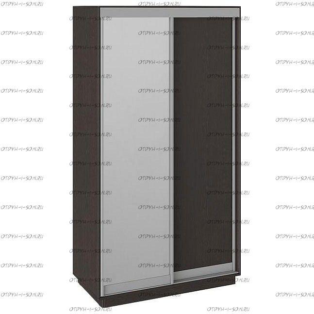 Шкаф-купе 2-х дверный Румер СШК 1.120.60-11.13 (1200x600x2200) Венге, Венге/зеркало