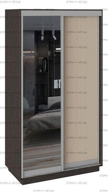 Шкаф-купе 2-х дверный Румер СШК 1.120.60-11.13 Венге, Дуб молочный/Зеркало