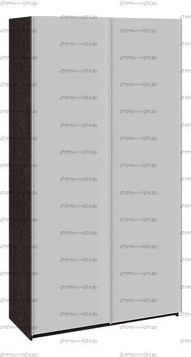 Шкаф-купе 2-х дверный Траст СШК 2.120.60-15.15 (1200x580x2300) Венге, Стекло Белый Глянец/Стекло Белый Глянец