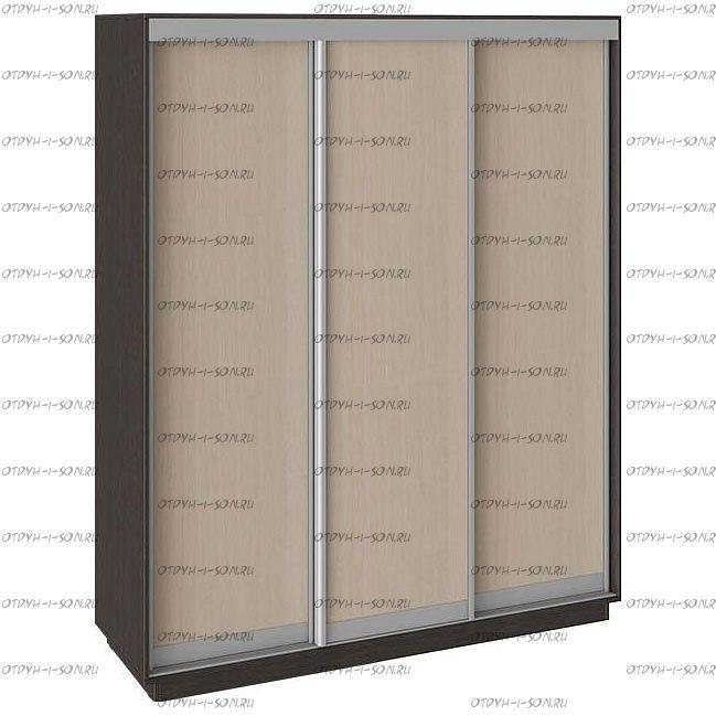 Шкаф-купе 3-х дверный Румер СШК 1.210.70-11.11.11 (2100x600x2200) Венге, Дуб молочный/дуб молочный/дуб молочный