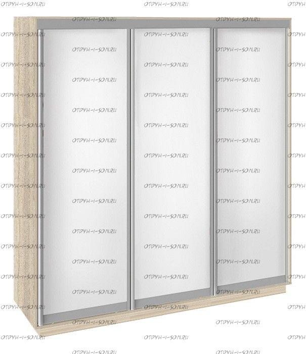 Шкаф-купе 3-х дверный Румер СШК 1.210.70-11.11.11 (2100x600x2200) Дуб Сонома, Белый снег/ Белый снег/ Белый снег