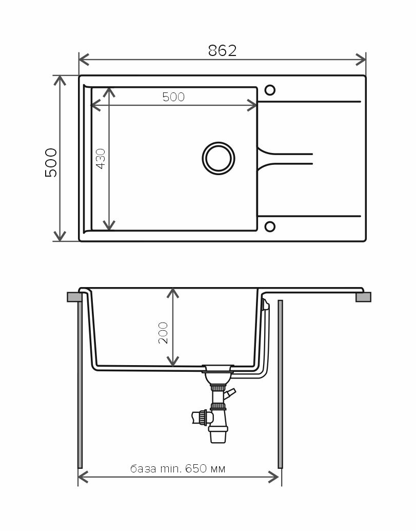 Кухонная мойка POLYGRAN Gals-862 (GALS-862 Терракот №307)