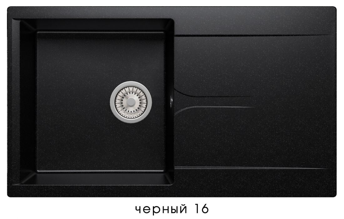 Кухонная мойка POLYGRAN Gals-860 (Gals-860 №16   черный)