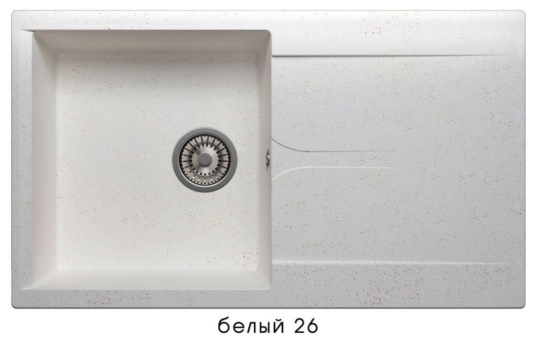 Кухонная мойка POLYGRAN Gals-860 (Gals-860  № 26   белый)
