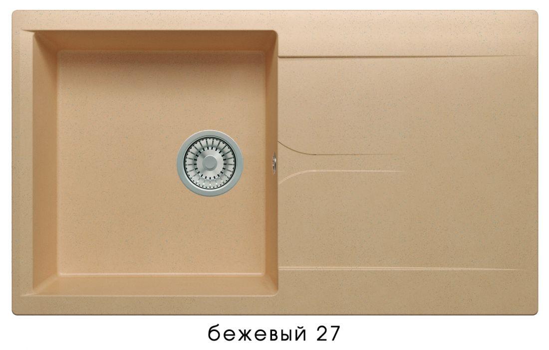 Кухонная мойка POLYGRAN Gals-860 (Gals-860  № 27   бежевый)