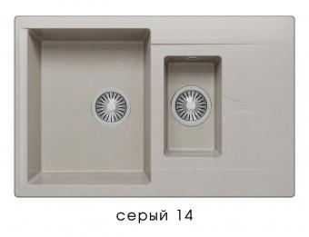 Кухонная мойка POLYGRAN Brig-770 (Polygran Brig -770 серый №14)