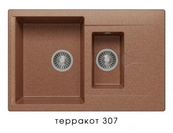 Кухонная мойка POLYGRAN Brig-770 (Polygran Brig -770 терракот №307)