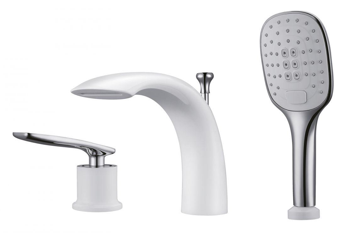 Смеситель для ванны Timo Helmi (4010/00-16Y chrome white)