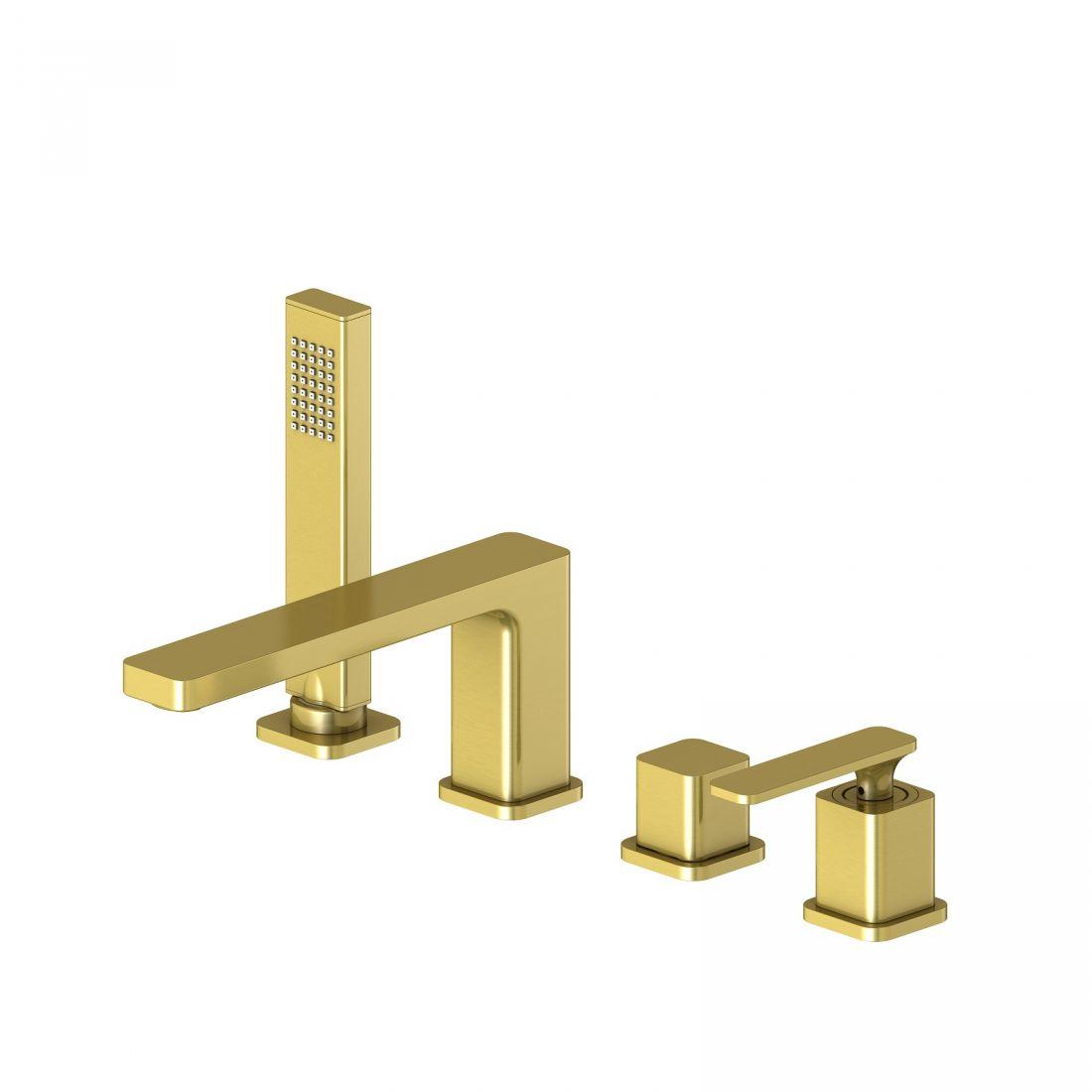 Смеситель для ванны с душем, врезной Timo Torne (4330/17Y золото матовое