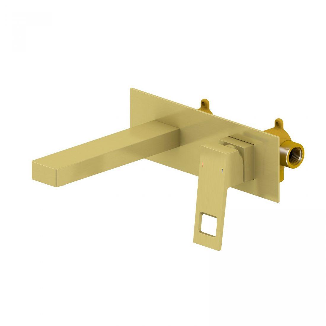 Смеситель для раковины встроенный Timo Briana (7171/17SM) золото матовое